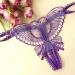 Стринги-бабочка, вырез на промежности