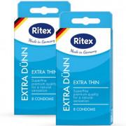 ПРЕЗЕРВАТИВЫ RITEX EXTRA DUNN № 8 (УЛЬТРАТОНКИЕ), 8 штук