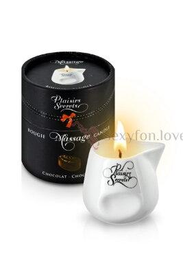 Свеча с массажным маслом Plaisirs Secrets (шоколад), 80 мл