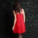 Ночная сорочка Ten Bao, с разрезом спереди, цвет красный