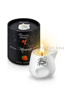Свеча с массажным маслом Plaisirs Secrets (клубника), 80 мл