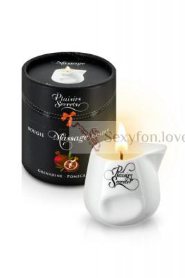 Свеча с массажным маслом Plaisirs Secrets (гранат), 80 мл