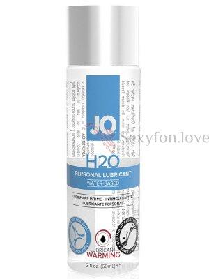 Возбуждающий и согревающий лубрикант JO на водной основе Lubricant H2O Warming