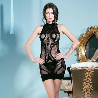 Платье-сетка, без рукавов