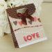 Пакет подарочный в горох LOVE, средний