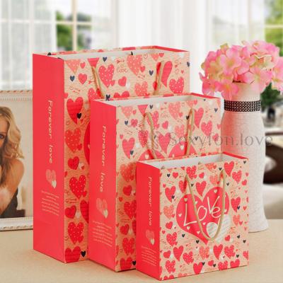 180-4 Пакет подарочный Forever Love, средний