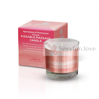 40567 Массажная свеча Kissable Massage Candle (ваниль), 135 г.
