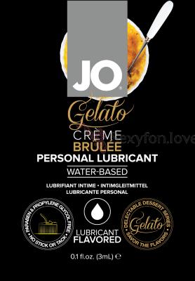 70125 Вкусовой лубрикант GELATO Creme Brulee, 3 ml