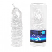 Насадка закрытая CRYSTAL SLEEVE SNAKES в форме змеи