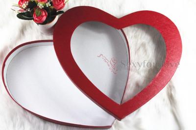 43-70 Подарочная коробка в форме сердца, прозрачный верх