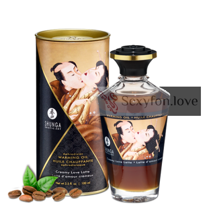 "2214 Массажное масло с афродизиаком Shunga ""Aphrodisiac Warming oil"" (Creamy Love Latte), 100 мл."