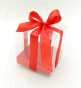 Подарочная упаковка с бантом, прозрачная