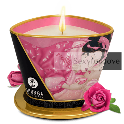 274500 Свеча-массажное масло Shunga (Aphrodisia - роза), 170 мл.