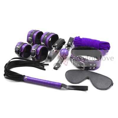 Набор BDSM, черный/фиолетовый