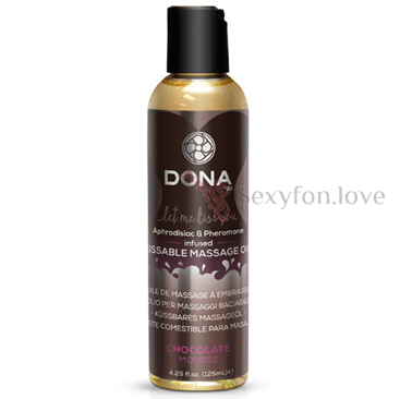 40537 Массажное масло DONNA Kissable Massage Oil Chocolate Mousse 110 мл.