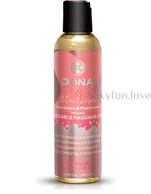 Массажное масло DONNA Kissable Massage Oil Vanilla Buttercream 110 мл.