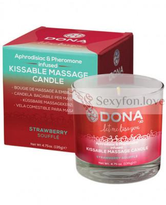 40568 Массажная свеча Kissable Massage Candle (клубника), 135 г.