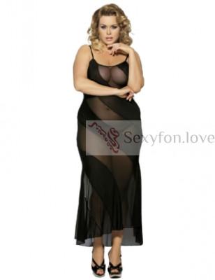 Сексуальное платье в мелкую сеточку с трусиками